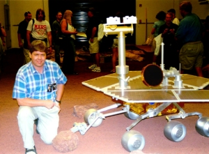 David Black and Mars Rover Mock-up