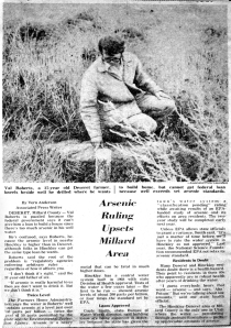 Arsenic article in Millard County Chronicle