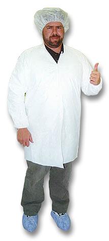 David Black in clean suit