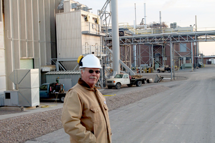 Phil Sabey at Brush Wellman plant; Dec., 2007.