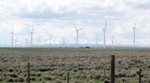 Wind turbines near Evanston, Wyoming