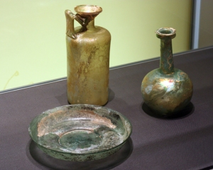 "Roman glass display in the ""Making Modernity"" exhibit at CHF."