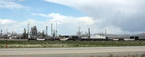 Sinclair oil refinery near Rawlins, Wyoming