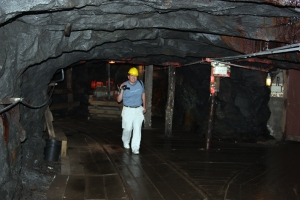 David Black in Lackawanna Coal Mine