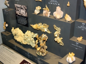 Gold nuggets in the Natural History Museum