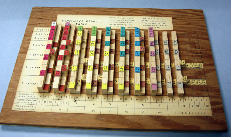 Periodic law the elements unearthed wooden periodic table by edward mazurs urtaz Choice Image