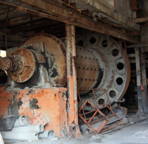 A ball mill for crushing lead ore