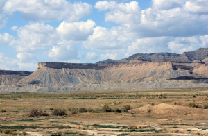 The Book Cliffs, east of Green River, Utah