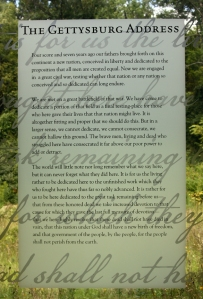 Gettysburg Address at Visitors Center Museum