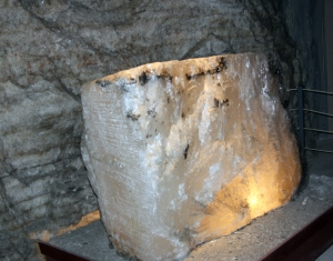 Block of halite in the Kansas Salt Mine