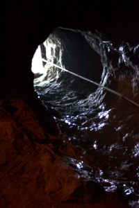 Shaft leading to the surface in the Bonne Terre lead mine
