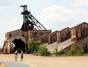 Missouri Mines State Historic Site. Art Hebrank is on the left.