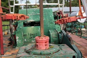 Rotary drilling rig for oil wells