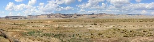 Panoramic photo of the Book Cliffs, Utah
