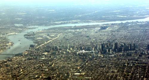 Philly from air