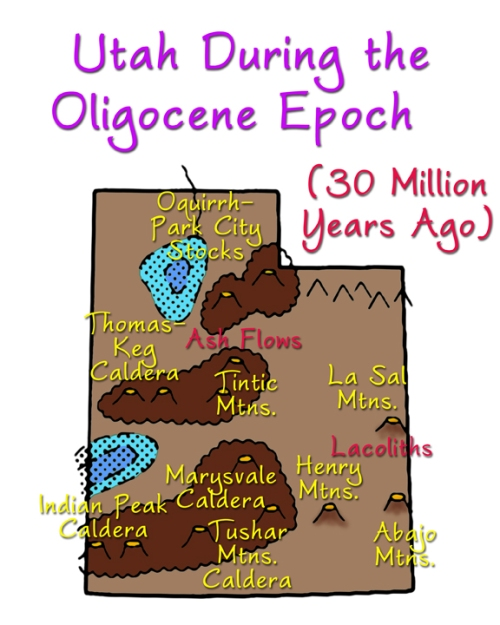 Utah during Oligocene Epoch