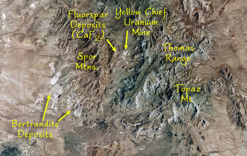 Topaz Mountain Utah Map.Topaz Mountain The Elements Unearthed
