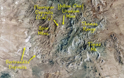Overhead View of Topaz Mt. Area
