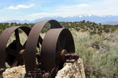 Belt wheels and Mt. Nebo