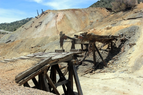 Ore dump at Dividend