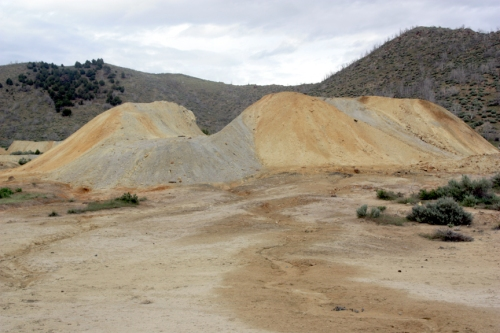 Tailings piles at Silver City