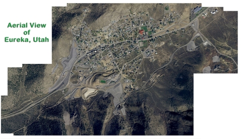 Aerial view of Eureka