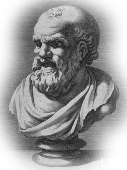Engraving of Democritus