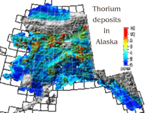 Thorium deposits in Alaska