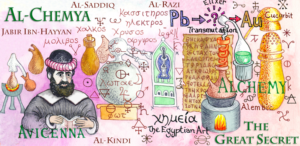 """arabic alchemy The roots of classical alchemy are found in the arabic, al khem, which translates roughly as of the black land"""" khem is the ancient egyptian word for egypt herself—the land of black, fertile silt that was left after the inundation swept through the nile valley each year, the place of the fecund earth which, when blessed by the."""