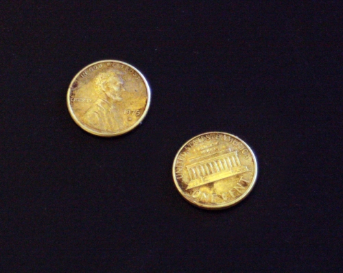 Golden pennies