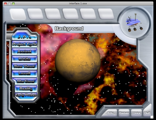 Mars project interface