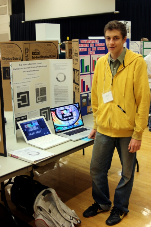 Josh at science fair