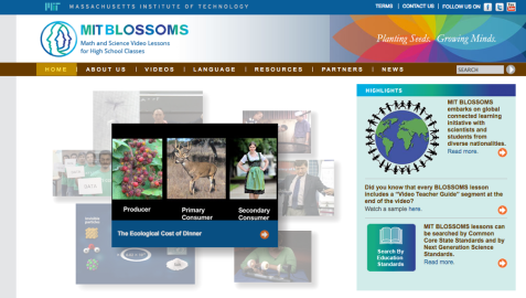 MIT BLOSSOMS homepage