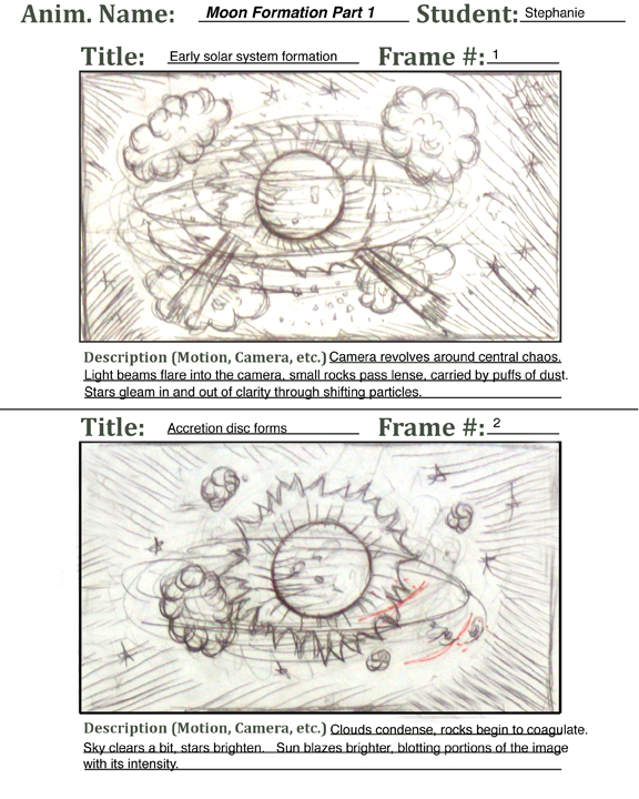 Moon the elements unearthed storyboard for solar system formation ccuart Image collections