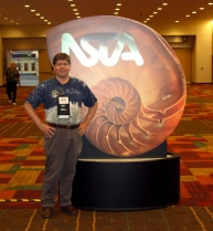 David Black by the NSTA sign