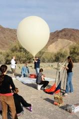 Preparing the weather balloon