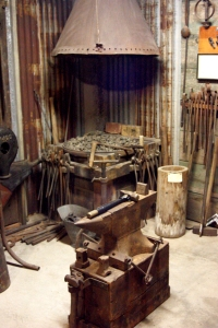 Typical mine blacksmith shop, recreated in the Silverton Heritage Museum.