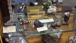 Copper ore on display in the Silverton, Co. museum.