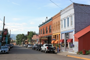 Main Street in Creede, Colorado.