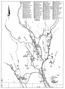 Map of mines in the Creede Mining District.