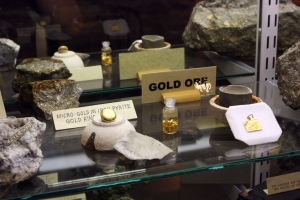 More gold ore in the Silverton museum.