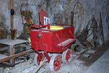 Honey car in the Creede Underground Mining Museum. OK, I'll say it: whoever had to clean this out each day had a really crappy job. . .