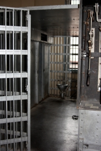 Jail cell in the old Silverton, Colorado jail.