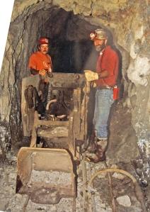 Mucker machine as it was found in the Big Six Mine.