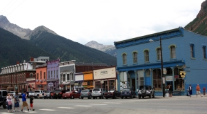 Main Street in Silverton, Colorado.