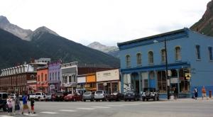Main Street in Silverton, Colorado.