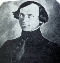 Captain John W. Gunnison, for whom many towns and places are named in Colorado and Utah. His 1853 survey expedition was attacked by a Pahvant war party in Oct., 1853 west of Deseret, Utah.