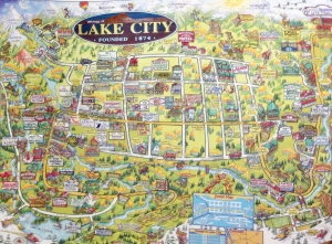 Illustrated map of Lake City, Colorado