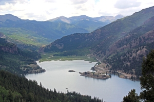 Lake San Cristobal above Lake City, Colorado