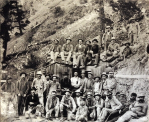 Miners at the Black Creek Mine near Lake City, Colorado.